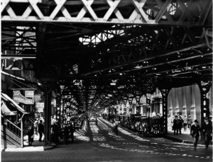 Berenice Abbott. Under the El at the Battery, New York, 1932