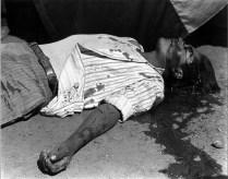 Obrero en huelga, asesinado. 1934