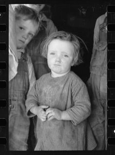 Carl Mydans Baby girl of family living on Natchez Trace Project near Lexington Tennessee