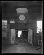 Cotton room formerly prayer meeting room Frank Tengle's farm Hale County Alabama Walker Evans