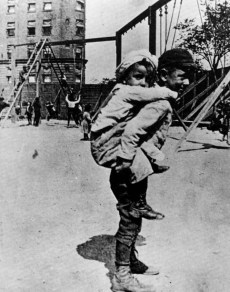 Jacob Riis Children on the Playground c1880-90s