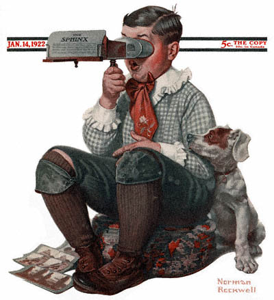 1922-01-14-Saturday-Evening-Post-Norman-Rockwell-cover-Boy-with-Stereoscope-no-logo-400-Digimarc