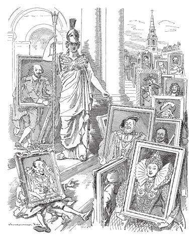 Anónimo, Biendenidos caricatura de Punch 11 de abril de 1896