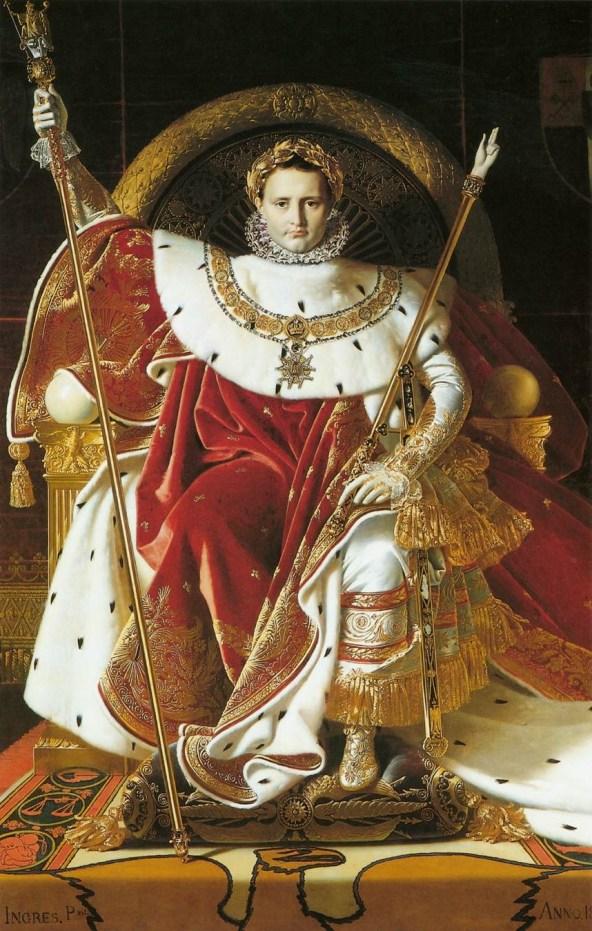 Napoleón I en su trono imperial. Jean Auguste Dominique Ingres (1806)