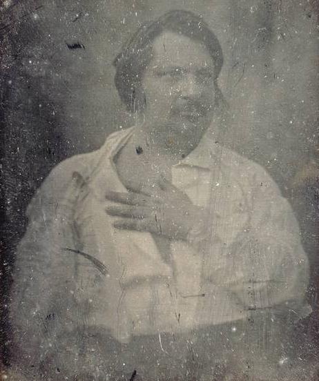 Retrato de Honorato de Balzac por Louis-Auguste Bisson