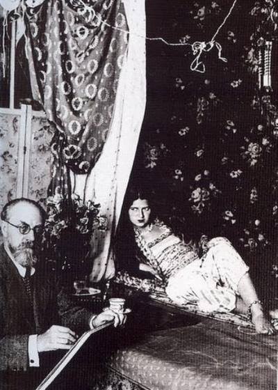 Henri Mattis con modelo. May Ray, 1928