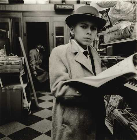 Boy Reading a Magazine, N.Y.C., 1956