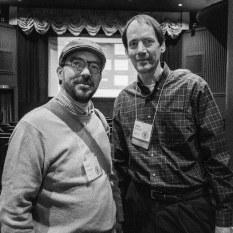 con Jim McGarvey (der.). Rochester, NY. 11 de octubre, 2014