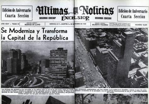Héctor García. Excelsior, Últimas Noticias. 1 de septiembre de 1959