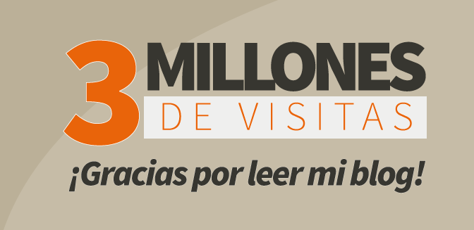 ¡Tres millones de visitas, tres millones de gracias!