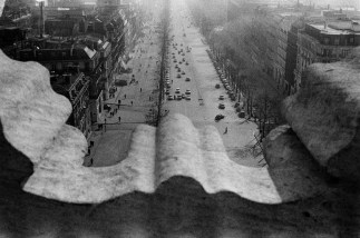 FRANCE. Paris. Place de l'Etoile. Champs-Elysées. View from the Arch of Triumph. 1959.