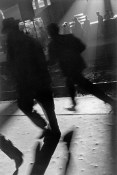ARGENTINA. Buenos Aires. People running to catch train in evening. Great part of the population lives outside town and go in and out of town in trains. 1957.