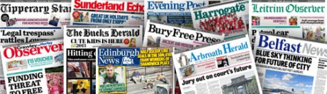 Algunos de los periódicos de Johnston Press, grupo editorial que también despidió a sus fotógrafos.