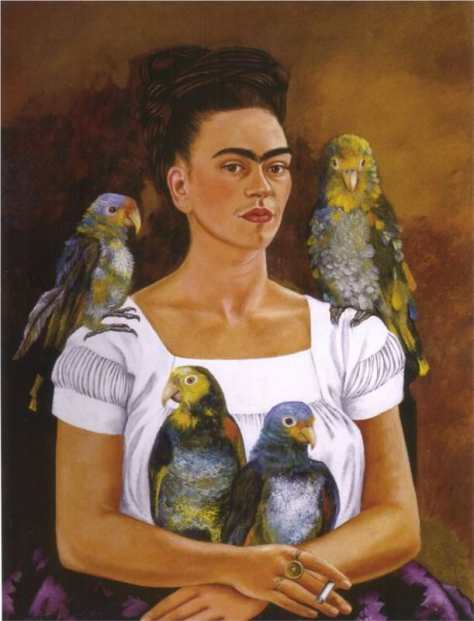 Me and My Parrot, 1941 by Frida Kahlo