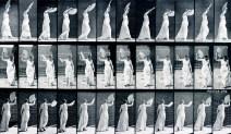 Eadweard Muybridge: Woman. Walking, and flirting a fan