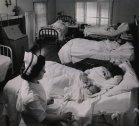 No publicada en LIFE. El ala de maternidad en Kremmling, Colorado, 1948