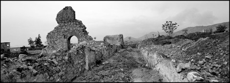 AFGHANISTAN. Baghe Qazi. May, 2009. A destroyed former Soviet base near Kabul.