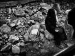 Stanley Greene ©noorimages 2013 Aleppo, Syria Death is covered in a black Shroud , a last warning before entering Hell Outskirts Of Aleppo