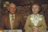 Los padres en un restaurante frances, Cambridge, Massachusetts, 1985