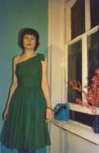 Vivienne y su vestido verde. New York City, 1980