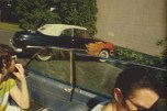 Automóvil con flamas. Salisbury Beach. New Hampshire, 1979