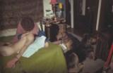 Ami atado con sus perros. Bsoton, 1978