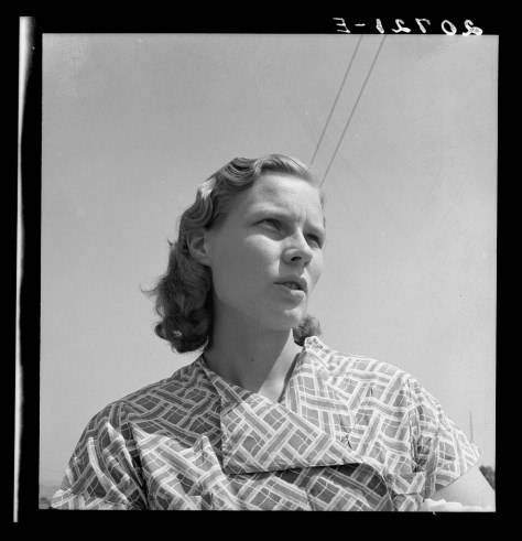 dorothea lange_Oregon Klamath County, Merrill. Young woman from a South Dakota farm, where her family still lives _aug1939