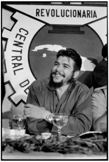 Havana. CHE GUEVARA at a luncheon meeting for Trade union.