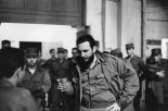 CUBA. Havana. 1963. President Fidel CASTRO having attending a meeting on the reorganisation of the Party, during a 3 hours speech in the Teatro Chaplin in Havana.