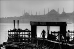 TURKEY. 1968. Salacak landing-stage and Istanbul silhouette.