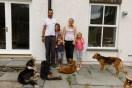 GB. Wales. Tal-y-bont. Rhodhi Lloyd-Williams and family. Moelgolomen Farm. 2018.