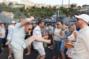 FRANCE. Monaco Grand Prix. Dancing at the Bar on the racetrack. 2017.