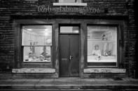 GB. England. West Yorkshire. Mytholmroyd. Butchers shop. 1977.