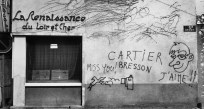 FRANCE. Graffiti paying homage to French photographer Henri CARTIER-BRESSON. 1984.