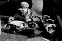CHINA. Liaoning Province. Anshan. Steel factory. Engineer in his office. 1957.
