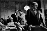 USA. Washington, D.C. 1973. Former White House counsel John DEAN with his wife, attorney and bodyguards at the Senate Watergate Committee.