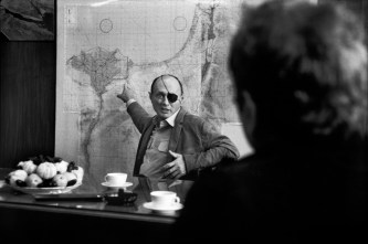 ISRAEL. General Moshe DAYAN in his office in Tel Aviv. May 15th, 1969.