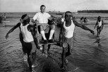 GHANA. Port of Accra. Merchant in Bosun's chair. 1960.