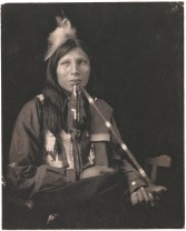Print. Philip Standing Soldier, Sioux Indian, by Gertrude Kasebier. PG*69.236.054. Image modified by curatorial staff.