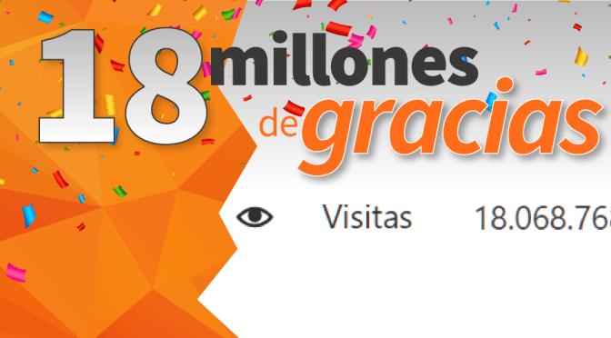 18 millones de gracias