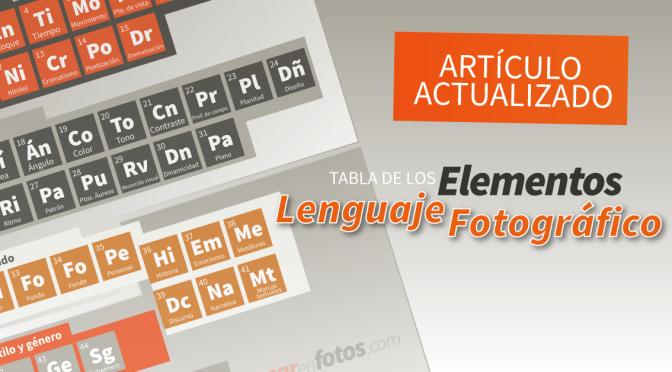 Artículo actualizado: Elementos del lenguaje fotográfico
