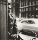 Louis Stettner (American, b. 1922) Untitled (Young Man with Bicycle), c. 1940