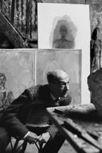 1961 Pierre Josse en el taller de Alberto Giacometti. Henri Cartier Bresson