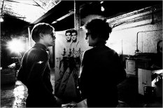 Nat Finkelstein shows Bob Dylan visiting Andy Warhol at the Factory in 1966