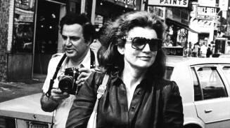 Jackie Onassis y Ron Galella