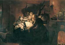 alquimista en su laboratorio