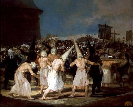 Procesión de flagelantes, por Goya