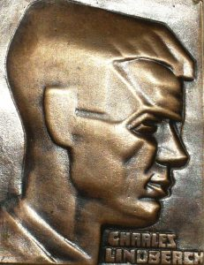 Nemon's relief of Charles Lindbergh