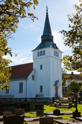 Gullholmens kyrka pa Harmano pa Svenska vastkusten.