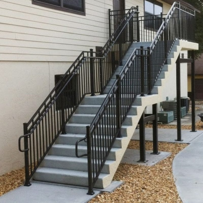 Wrought Iron Balcony Railing Fence Installation Osceola Fence | Wrought Iron Stair Railing Near Me | Steel | Spindles | Wood | Front Porch Railings | Stair Spindles